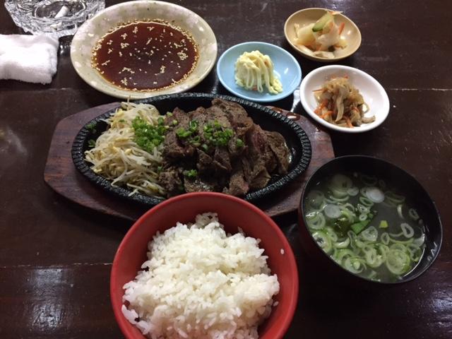 大虎ステーキ定食(^_^)